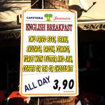 English breakfast pricing