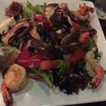Octopus & shrimp salad. Absolutely the best you can get anywhere. The octopus was so tender I co