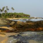 Het strand aan de rock seapool