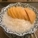 Mango and sticky rice dessert
