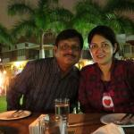 Candle lit dinner with my wife at hotel lawns