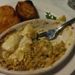 Seafood casserole - half eaten