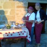 Manuela (the owner) and Carlo serving apertivo e antipasti