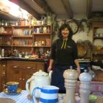 Our host, Sara in her beautiful Welsh farmhouse kitchen