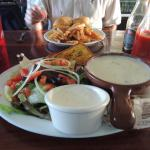 Clam Chowder and salad