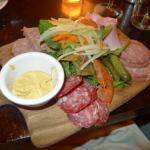 Charcuterie board - saucisson à l'ail is to die for :)