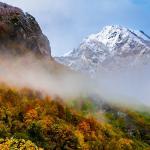 Vistas del otoño en Valle de Lago