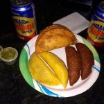 All beef in the three different shells. And you got to have a Colombiana.