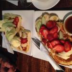 Pancakes und Waffeln