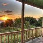 Sunset from Tekarera Inn Deck