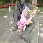 Hatta Yoichi bronze statue, Wushantou Reservoir, Tainan city