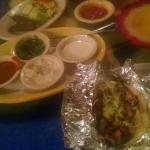 taco platter-1 carnitas, 1 chicken, 1 steak, 1 chorizo