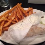 Gyro with a choice of fries or greek salad