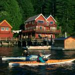 Discovery Islands Lodge from the water