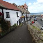 View past pub to sea