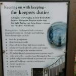 Information about the Keepers Duties