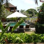 het zwembad vanaf villa nr.1