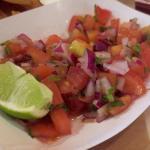 Fresh salsa close up