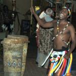 African singer at the Boma Restaurant