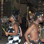 African dancers at the Boma Restaurant