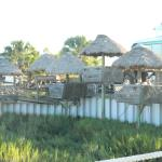 cute tiki huts to have dinner in....very nice