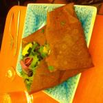 Buckwheat crepe with grilled chicken