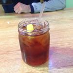 Sweet tea in a mason jar