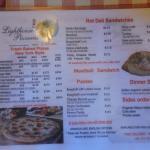 Extensive menu.