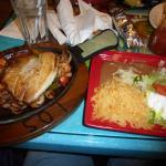 Fajita Marina (with Tilapia, shrimp, scallops) Los Machados