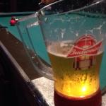 Budweiser goal light Pitchers and pool table downstairs