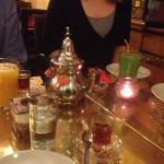 Mint tea elegantly served