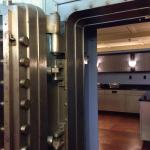 Bank vault breakfast bar