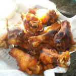 Chicken wings smoked and the fried