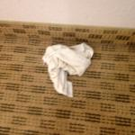 The icing on the cake, finding dirty rags in our room...Right as we check into the room.This was