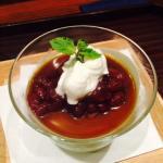 Omakase dessert matcha tofu pudding - YUM!!!