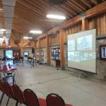 Meetings in the calf barn