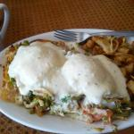 Seafood Benedict (Lighthouse Style- with a croissant)
