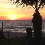 Sunset from the Mumbo Gimbo restaurant on the beach!