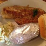 haddock with baked potato