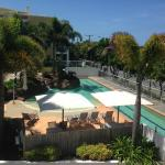 View from room of the pool area