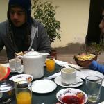 Enjoying the breakfast!