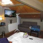One of the room corners with ceiling skylight