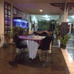 Aquarium in restaurant