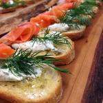 The Joint Cafe Smoked Salmon Canape