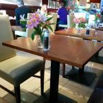 Breakfast room is in the lovely onsite Bistro.