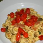 pasta with the sweetest tomatoes and red tuna