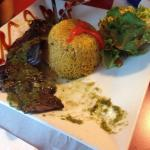 Skirt Steak with Salad and The Rice of the House