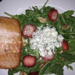 Arugula salad + salmon