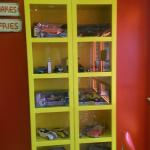 Display cabinet of cars....
