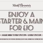Enjoy 2 courses for £10